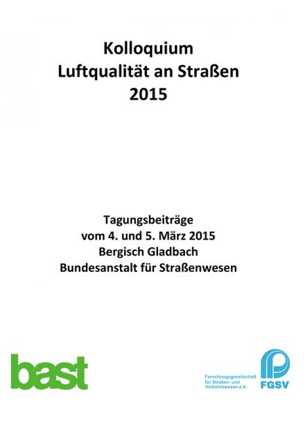 Kolloquium Luftqualität an Straßen 2015