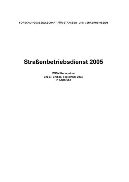 Straßenbetriebsdienst 2005