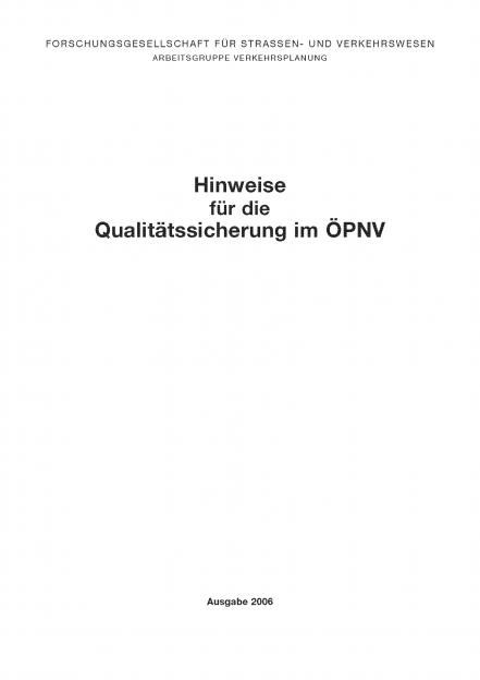 H Qualitätssicherung im ÖPNV