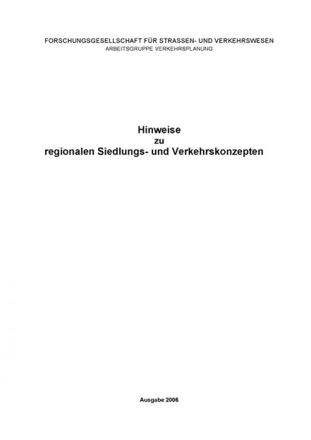 H Siedlungs- und Verkehrskonzepte
