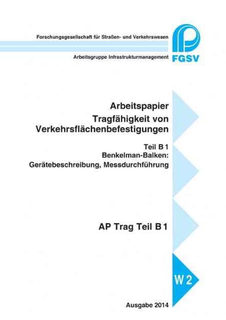 AP Trag B 1: Benkelman-Balken