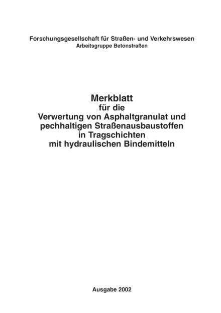 M Verwertung von Asphaltgranulat