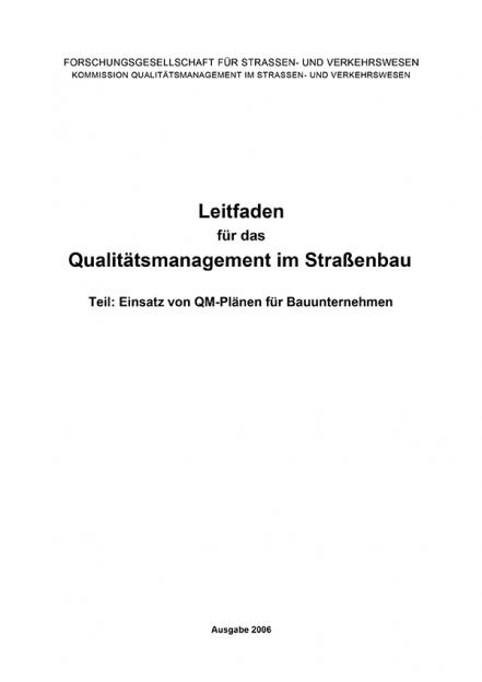 Leitfaden Qualitätsmanagement Teil: QM-Plänen