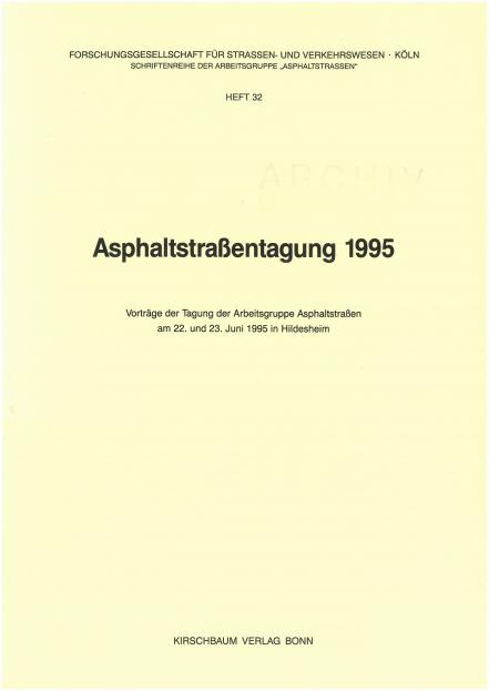 Asphaltstraßentagung 1995