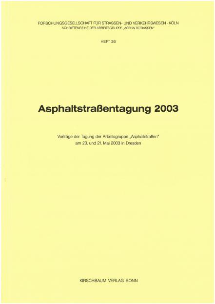 Asphaltstraßentagung 2003
