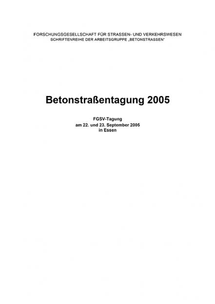 Betonstraßentagung 2005