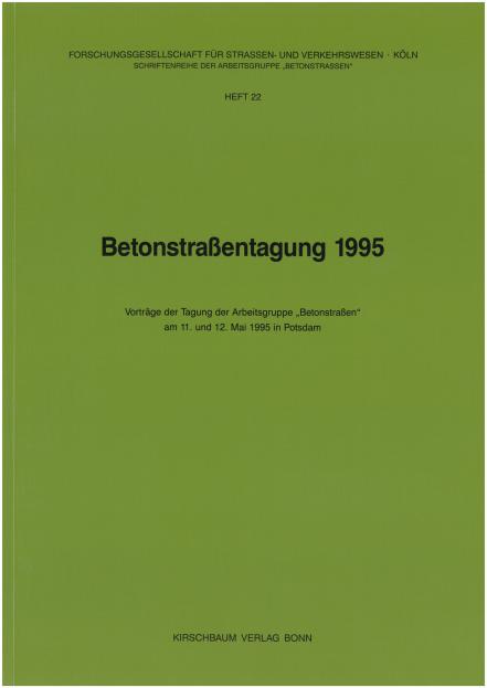 Betonstraßentagung 1995