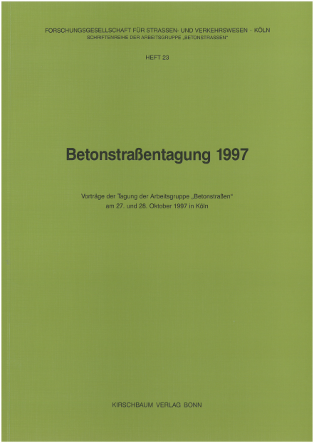 Betonstraßentagung 1997
