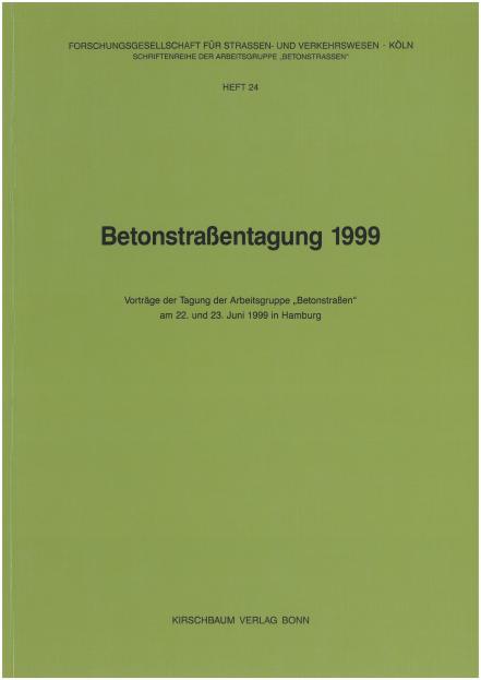 Betonstraßentagung 1999