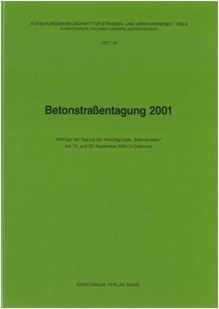 Betonstraßentagung 2001