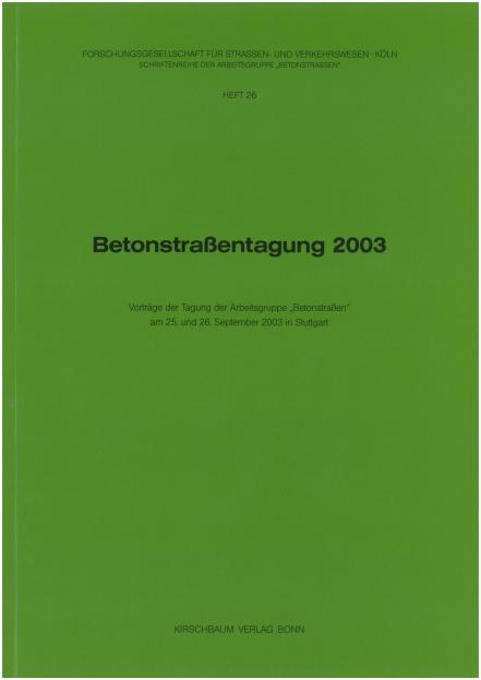 Betonstraßentagung 2003