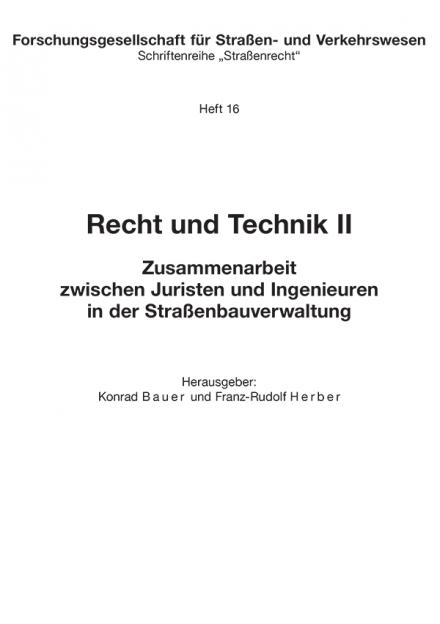 Recht und Technik II