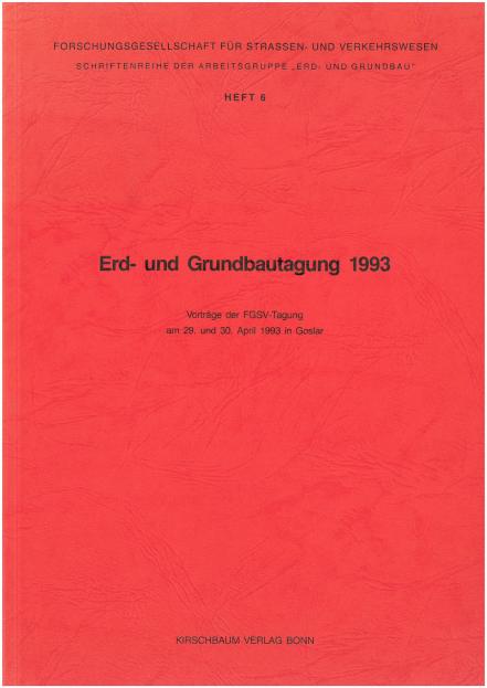 Erd- und Grundbautagung 1993