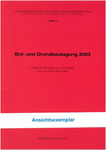 Erd- und Grundbautagung 2003