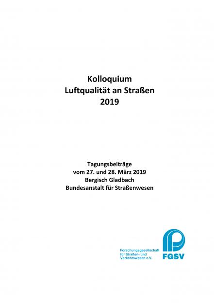 Kolloquium Luftqualität an Straßen 2019