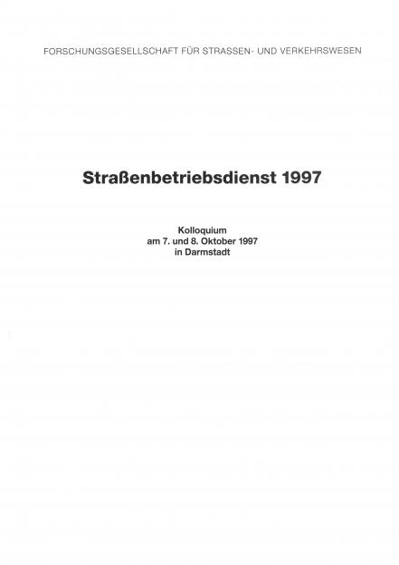 Straßenbetriebsdienst 1997