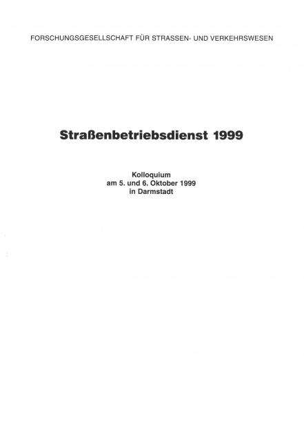 Straßenbetriebsdienst 1999
