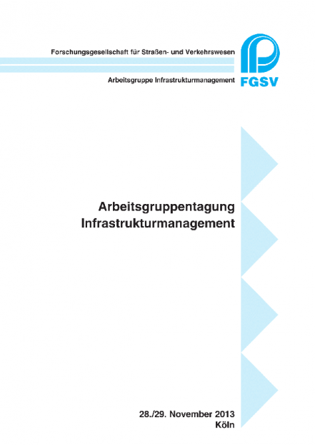 Arbeitsgruppentagung Infrastrukturmanagement  2013