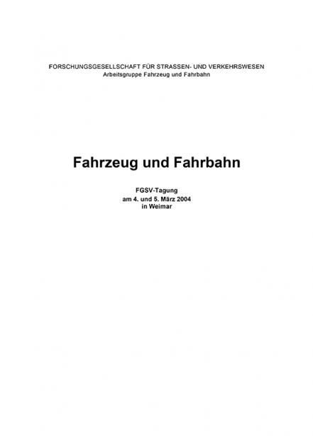 Fahrzeug und Fahrbahn 2004