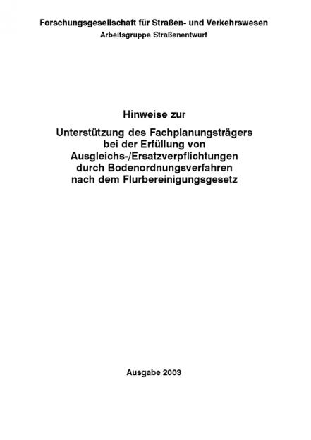 H Ausgleichs-/Ersatzverpflichtungen nach dem Flurbereinigungsgesetz