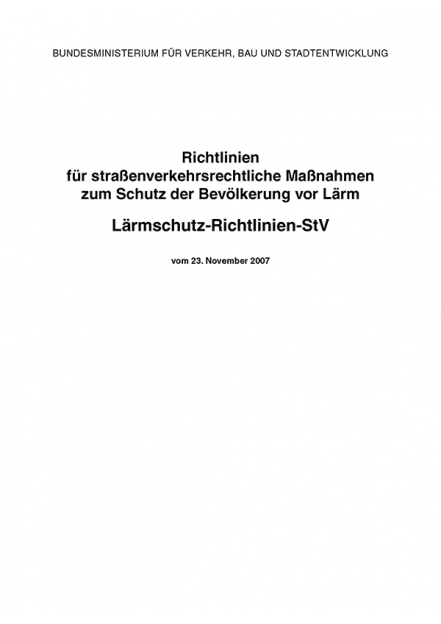 Lärmschutz-Richtlinien-StV