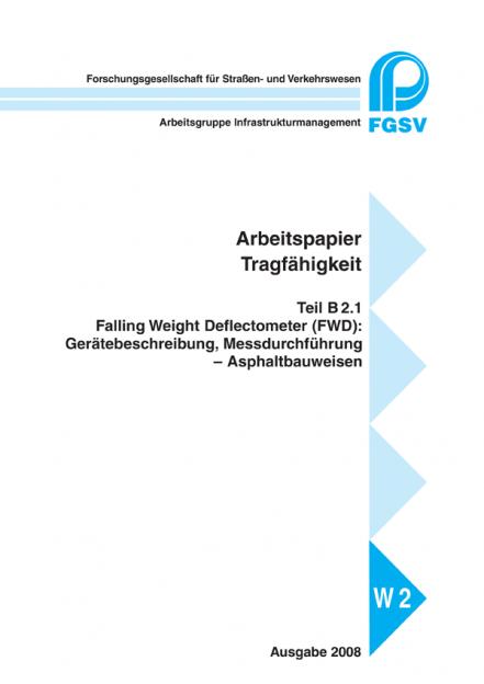 AP Trag B 2.1: FWD Asphalt