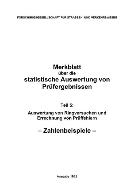 M Statistische Auswertung Teil 5