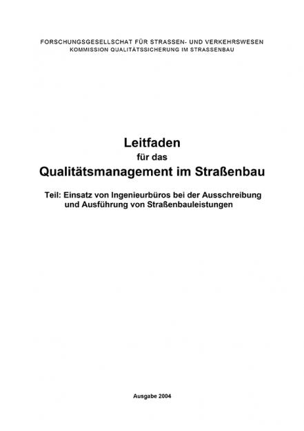 Leitfaden Qualitätsmanagement Teil: Ingenieurbüros