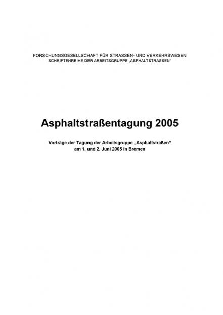 Asphaltstraßentagung 2005