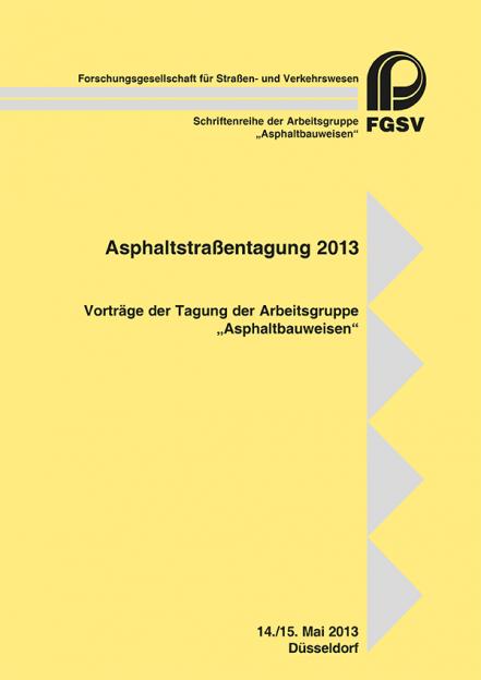Asphaltstraßentagung 2013