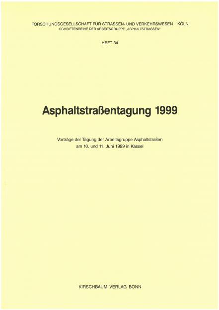 Asphaltstraßentagung 1999