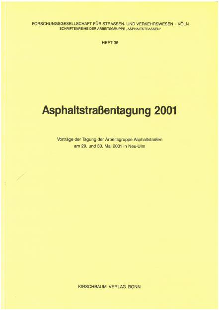 Asphaltstraßentagung 2001