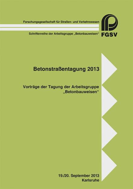 Betonstraßentagung 2013
