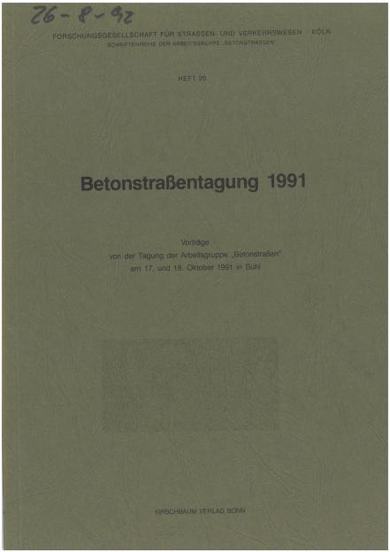 Betonstraßentagung 1991