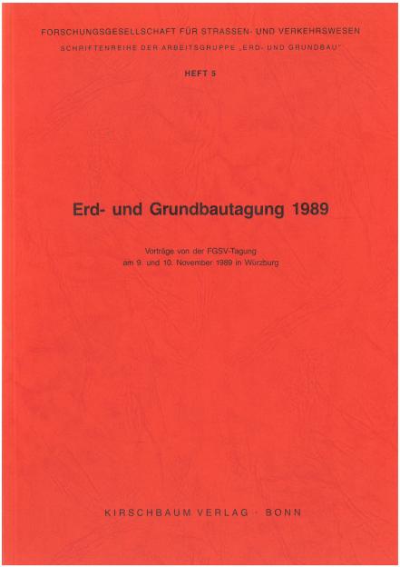 Erd- und Grundbautagung 1989