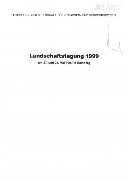 Landschaftstagung 1999