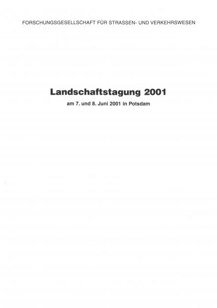 Landschaftstagung 2001