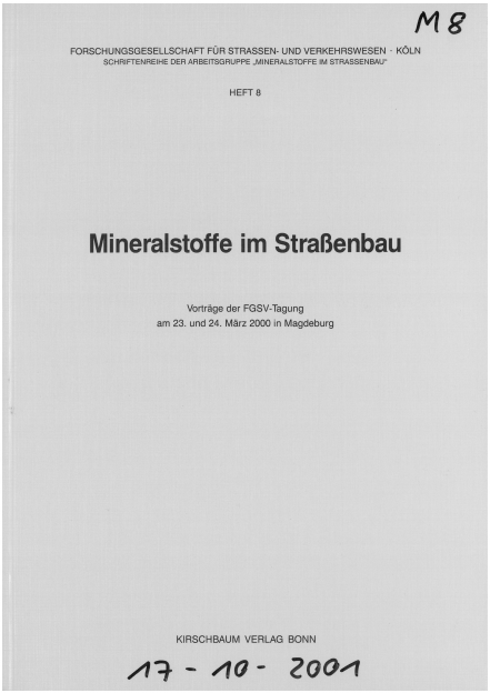 Mineralstoffe im Straßenbau 2000