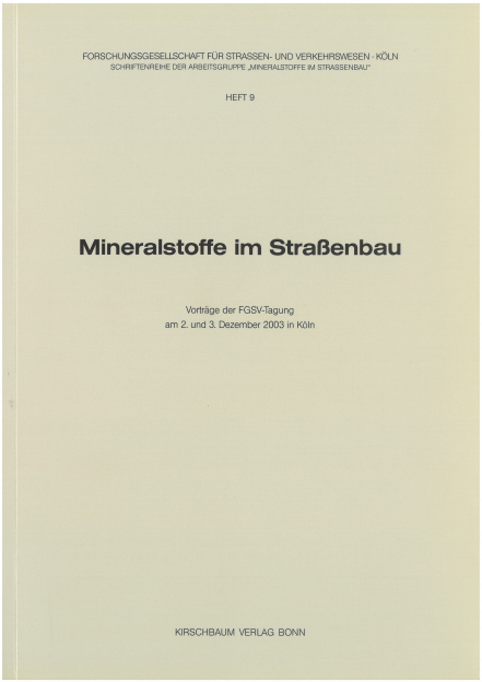 Mineralstoffe im Straßenbau 2003