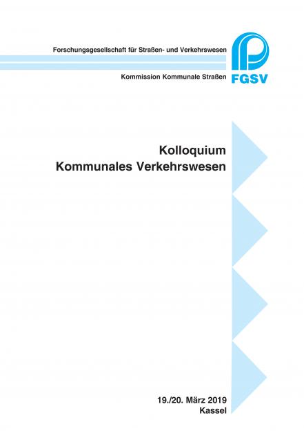 Kolloquium Kommunales Verkehrswesen 2019